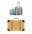 Travel Suitcases vector image