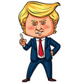 us president trump with his finger pointing vector image
