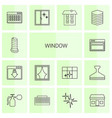 window icons vector image vector image