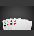 casino poker card background big win concept vector image