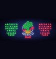 mexican bar is a neon-style logo neon sign vector image