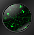 Radar with planes vector image
