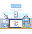 e-learning concept for application development vector image