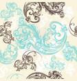 ornamental seamless wallpaper pattern vector image