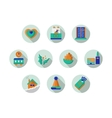 Round icons collection for Xmas holidays vector image