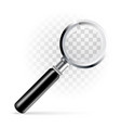 magnifier on a transparent background vector image