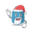 a picture santa hot water bag mascot picture vector image vector image