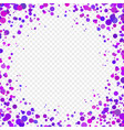 abstract background with falling purple confetti vector image vector image