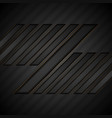 abstract black geometric tech background vector image vector image