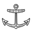 anchor isolated on white background design vector image vector image