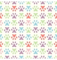 animal seamless pattern of paw footprint endless vector image vector image
