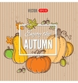 autumn template vector image vector image