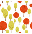 autumn trees background isolated graphic design vector image vector image