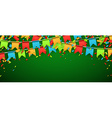 Banner with colour flags vector image vector image