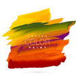 bright colorful hand paint stain design vector image vector image