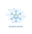 business model line concept simple line icon vector image