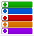 buttons with cross plus symbols signs in various vector image