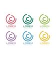 C letter logo icon symbol vector image vector image