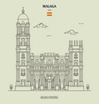 cathedral malaga spain vector image vector image
