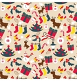 Christmas traditional pattern New Year holiday vector image vector image