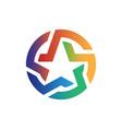 circular star logo vector image