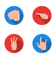 closed fist index and other gestures hand vector image