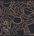 coffee seamless pattern graphic background vector image vector image