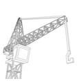 crane construction equipment industry vector image vector image