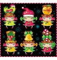 cute Christmas girls vector image
