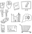 Doodle of hand draw design element business vector image
