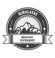 Everest - snowbound Himalayas mountain label vector image vector image