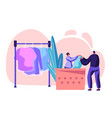 female character professional laundry worker vector image vector image