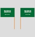 flag of the kingdom of saudi arabia front and back vector image vector image
