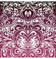 floral decorative wallpaper vector image vector image