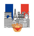 france paris architecture vector image vector image