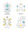 General knowledge additional skills soft skill vector image vector image