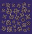 golden mandalas ramadan kareem pattern vector image