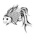 goldfish drawing vector image