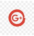google plus social media icon design template vector image vector image