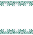 green teal traditional wave japanese chinese vector image vector image