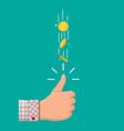 hand businessman tossing golden dollar coin vector image vector image