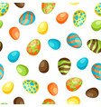 happy easter seamless pattern with eggs vector image