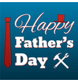 happy fathers day card retro style vector image vector image