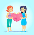 happy gay cute homosexual spouses smiling young vector image