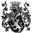 heraldic silhouette No15 vector image vector image