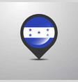 honduras map pin vector image