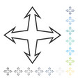 intersection arrows icon vector image vector image