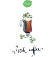 irish coffee vector image vector image