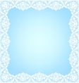 Lacy frame on blue vector image