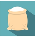 Linen sack full of flour icon flat style vector image vector image